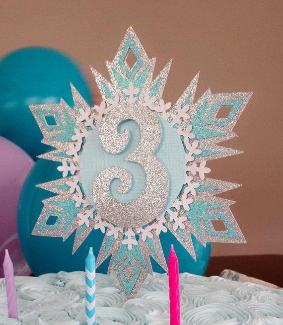 Snowflake Cake Topper | Winter Wonderland Party Ideas