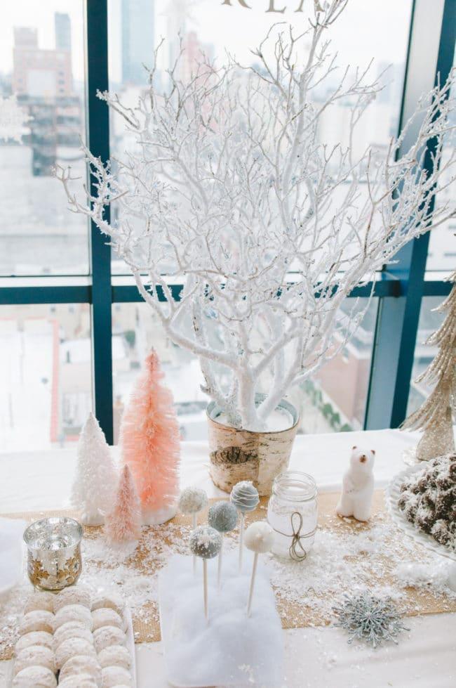 Snowy Tree Decoration | Winter Wonderland Party Ideas