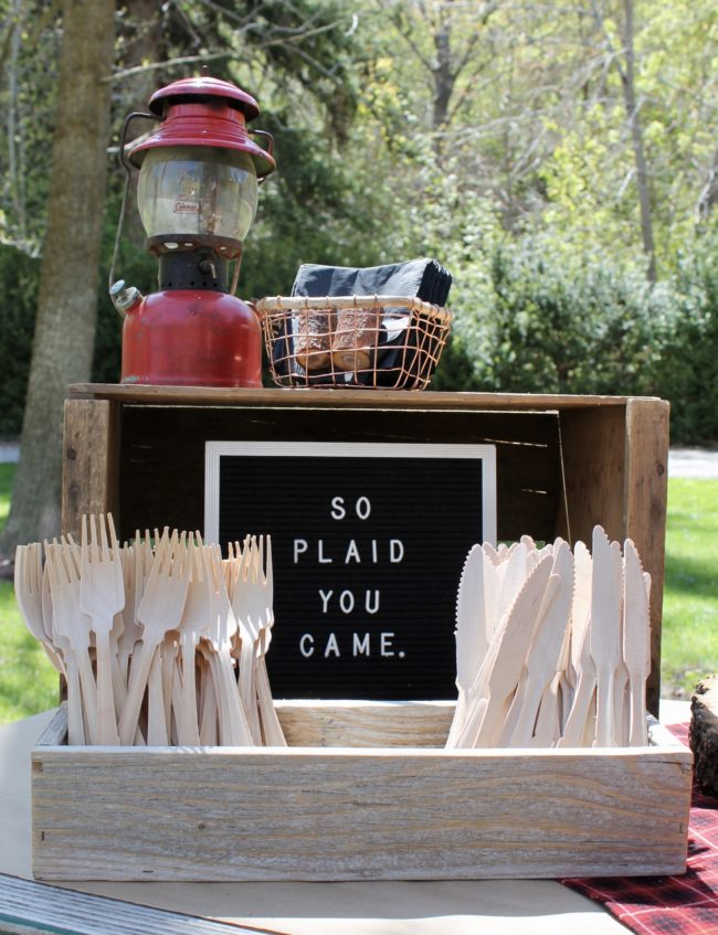 So Plaid You Came Sign | Lumberjack Party Ideas