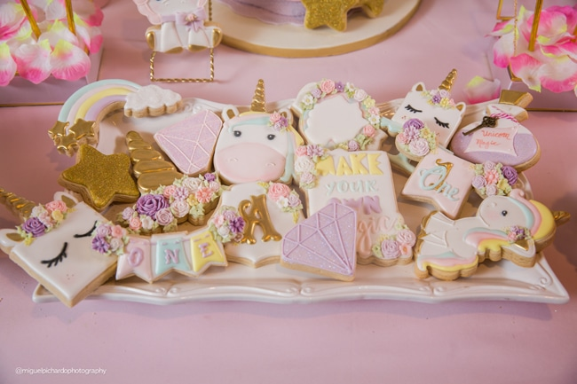 Baby Unicorn Themed First Birthday Party on Pretty My Party