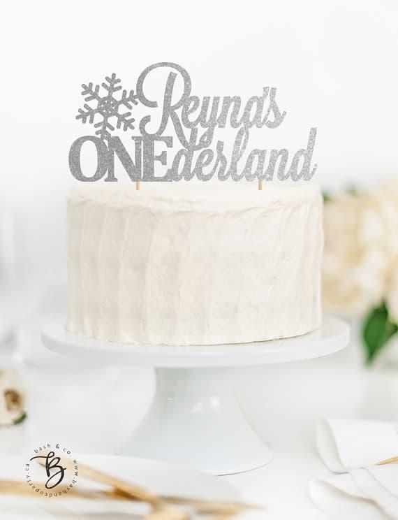 30th Wedding Anniversary Ideas 57 Spectacular ONEderland Cake Topper Winter