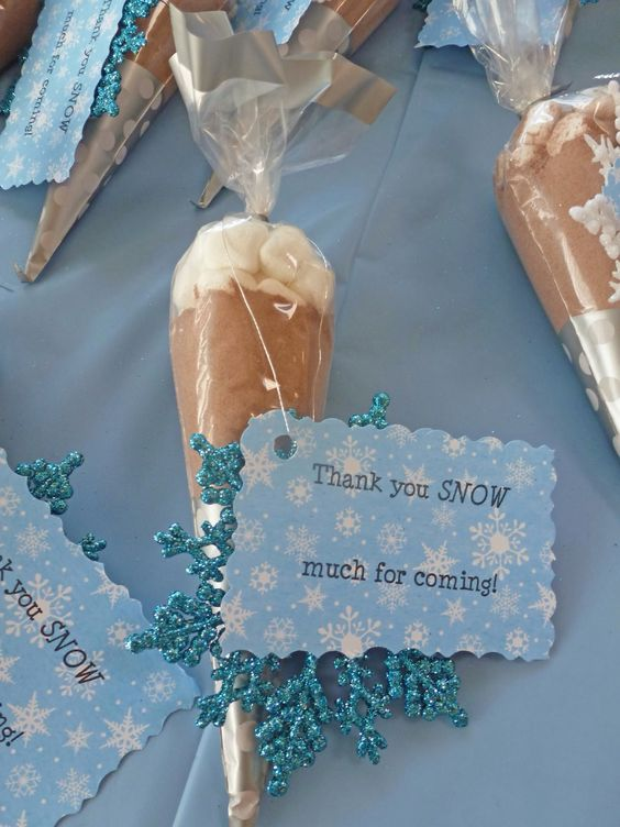 Hot Chocolate Party Favors | Winter Wonderland Party Ideas