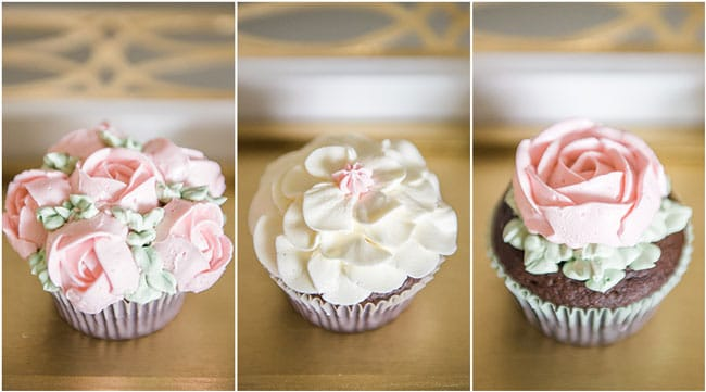 Garden Party Flower Cupcakes on Pretty My Party