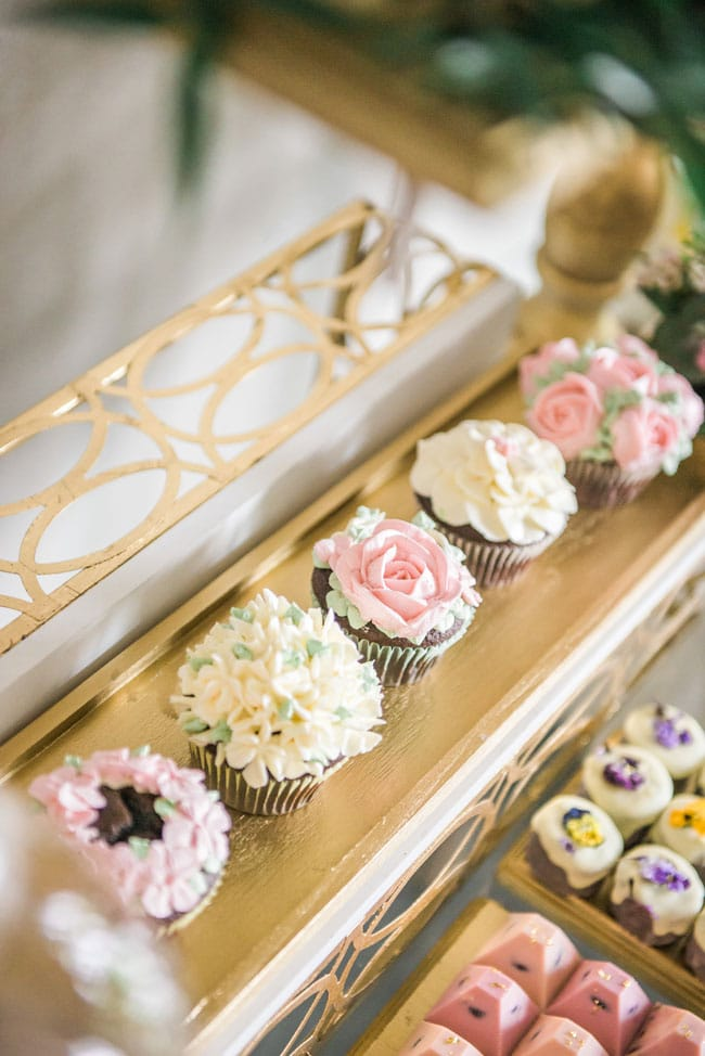 Floral Cupcakes For Garden Party on Pretty My Party