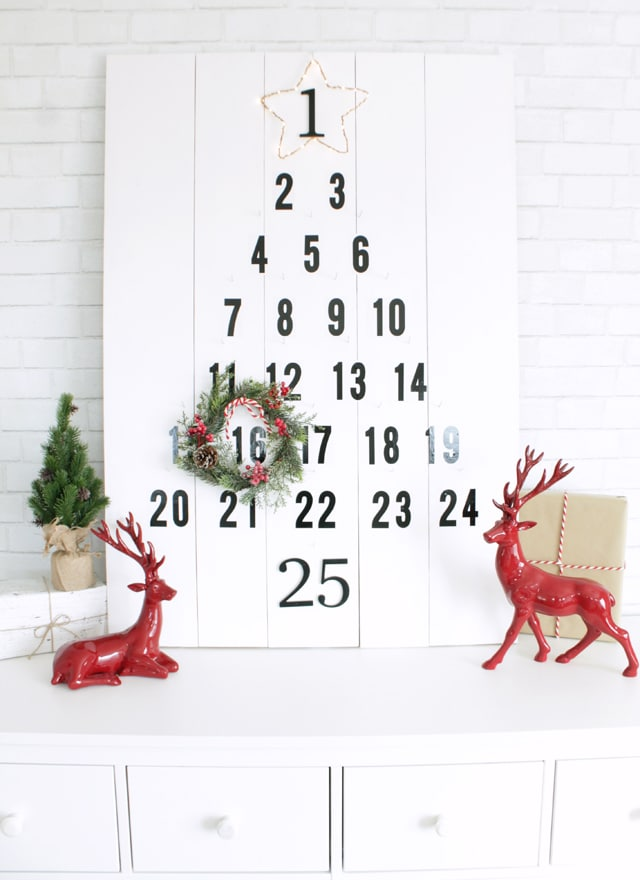 DIY Christmas Advent Calendar Countdown