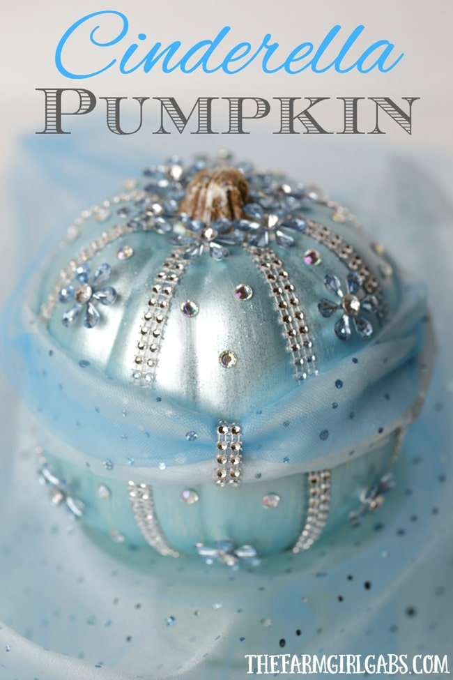 No Carve Cinderella Pumpkin for Kids