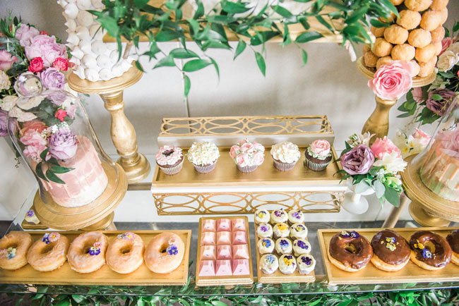 Garden Themed 1st Birthday Desserts on Pretty My Party