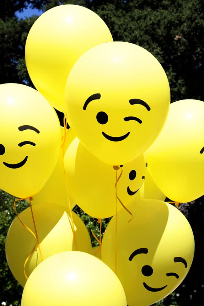 Awesome Emoji Themed 11th Birthday Party Balloons