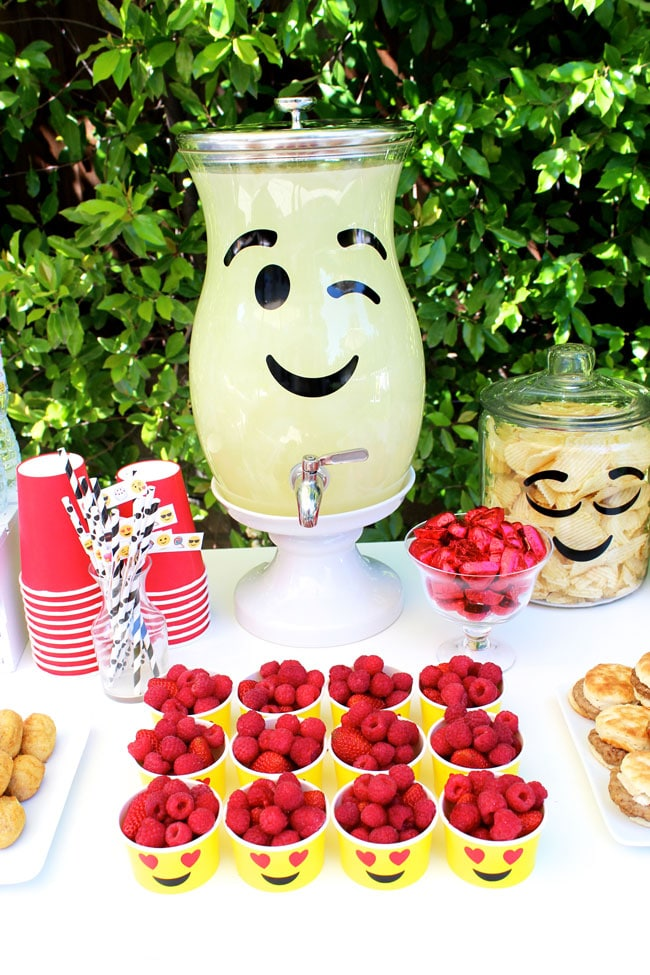 Awesome Emoji Themed 11th Birthday Party Food and Drinks