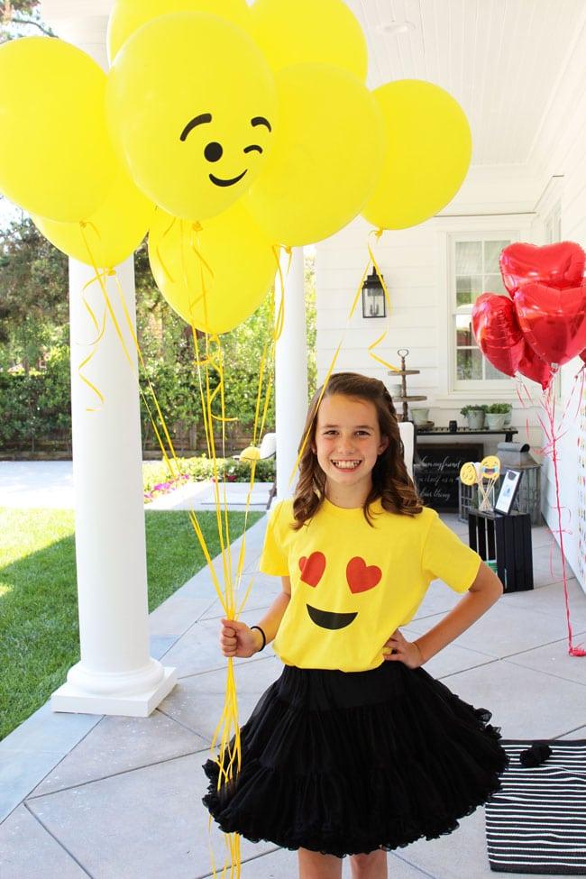 Awesome Emoji Themed 11th Birthday Party Shirt
