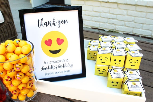 Awesome Emoji Themed 11th Birthday Party Favors