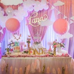 Gorgeous Hot Air Balloon 1st Birthday Party