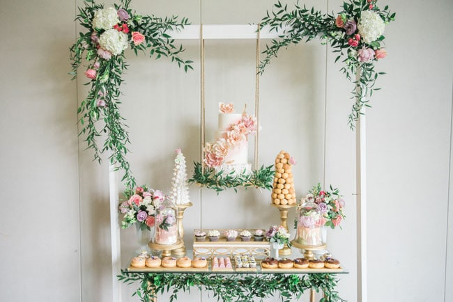 Garden Themed Dessert Table on Pretty My Party