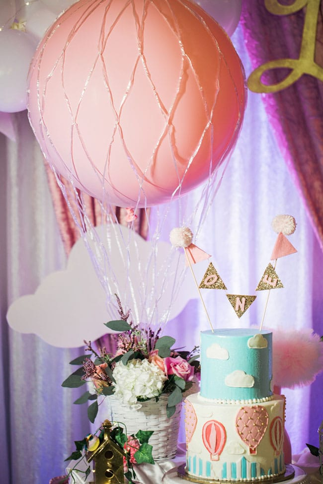Gorgeous Hot Air Balloon 1st Birthday Party on Pretty My Party