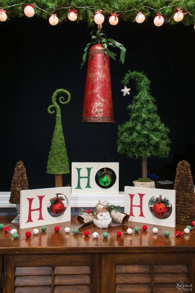 DIY Ho Ho Ho Christmas Decor