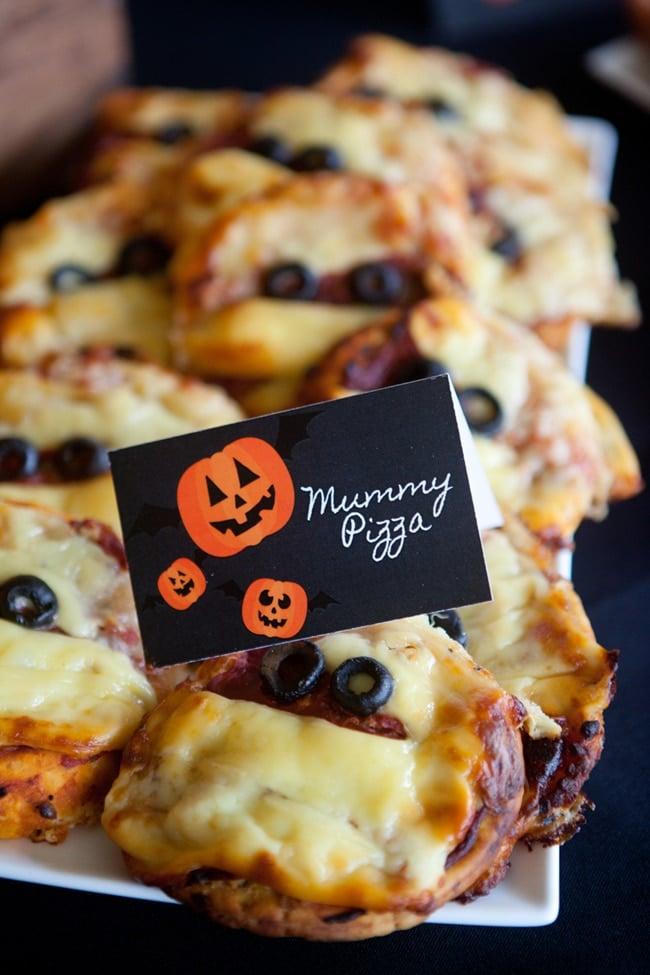 Halloween Mummy Pizza | Healthy Halloween Snacks