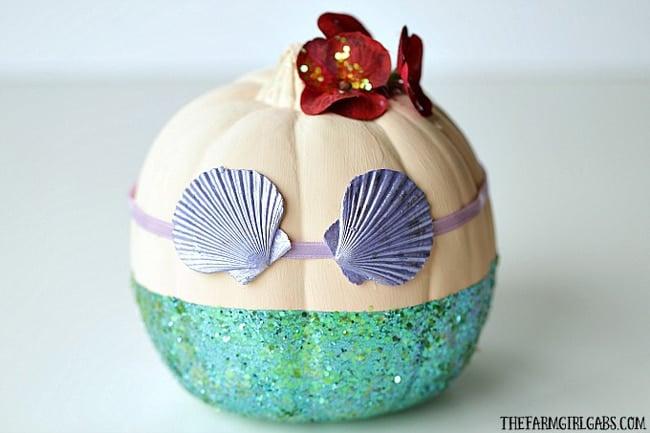 Little Mermaid Pumpkin Painting Idea