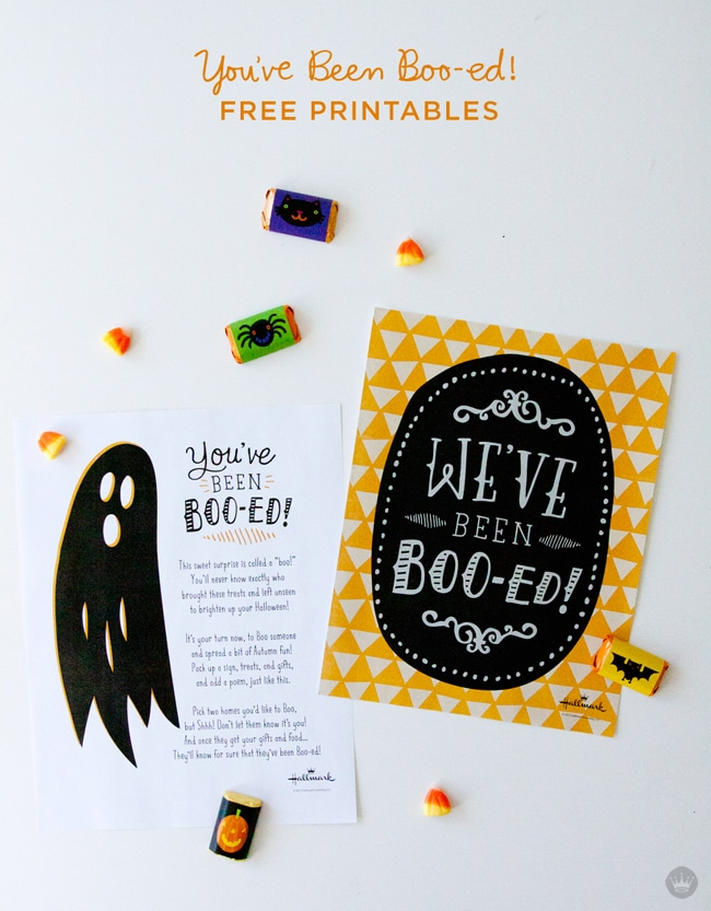 You've Been Boo-ed Free Halloween Printables