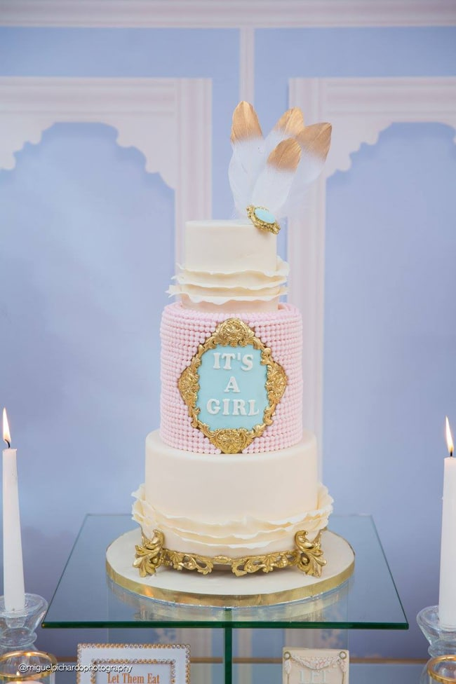 Gorgeous Marie Antoinette Baby Shower Cake - Pretty My Party
