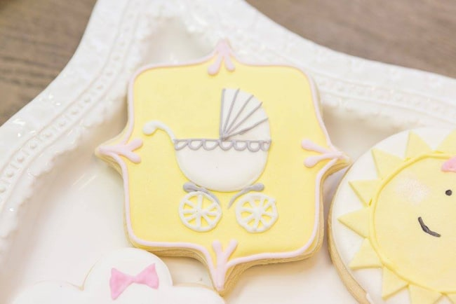 You Are My Sunshine Themed Baby Shower on Pretty My Party
