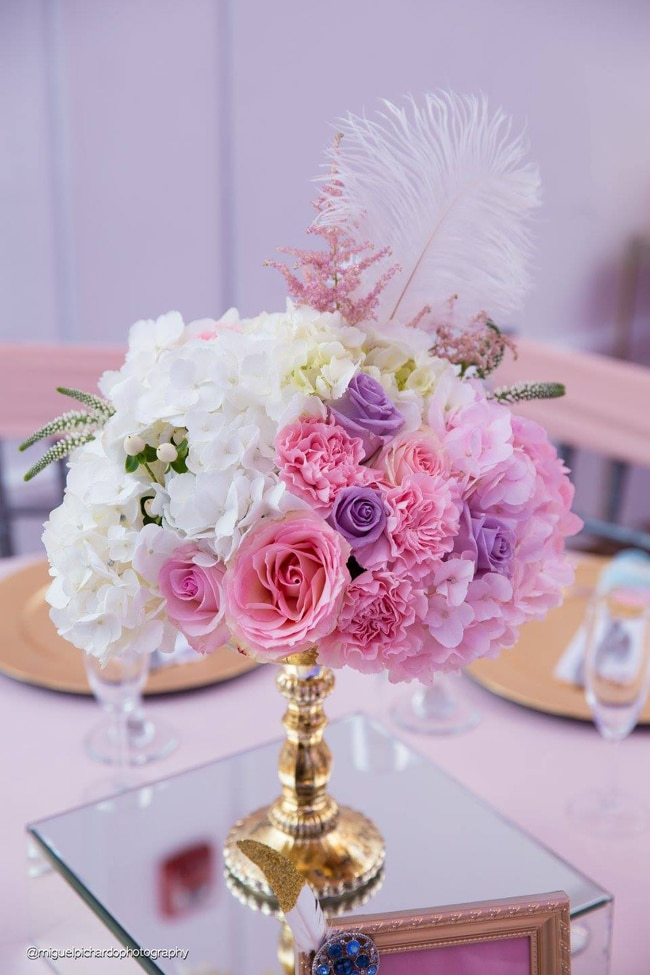 Gorgeous Marie Antoinette Baby Shower Flowers - Pretty My Party
