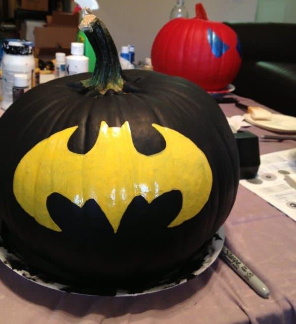 Batman Painted Pumpkin