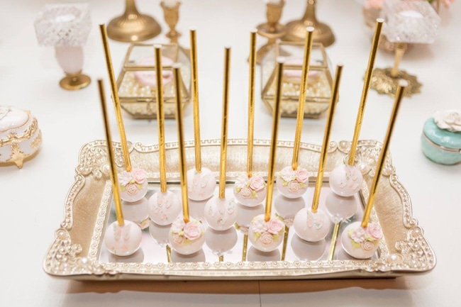 Garden Baby Shower Cake Pops