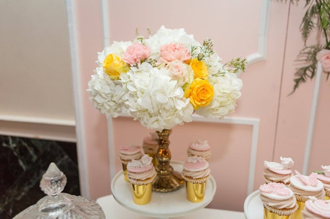 Blush Garden Baby Shower Decor