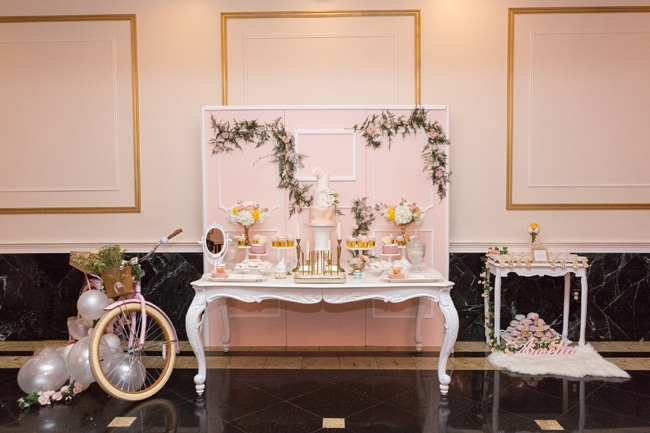 Blush Garden Themed Baby Shower on Pretty My Party
