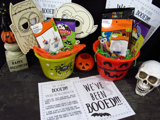 Halloween Booed Basket Printables