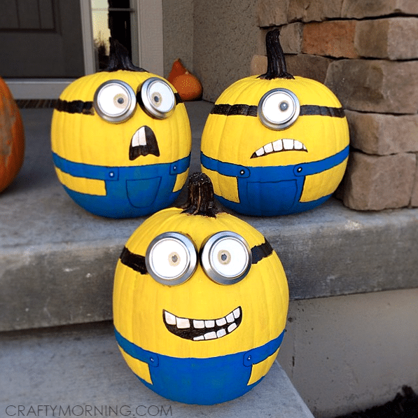 No Carve Minions Pumpkins