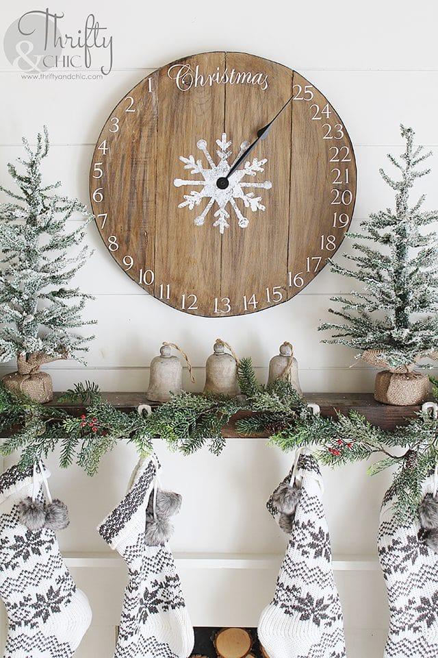 DIY Wood Clock Christmas Advent Calendar