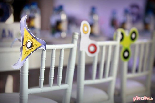 Awesome Fidget Spinner Themed Birthday Party on Pretty My Party