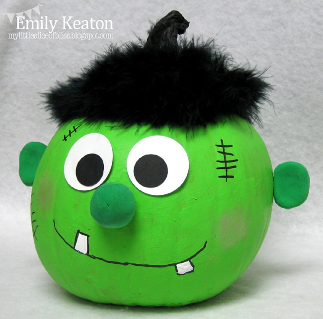 No Carve Frankenstein Pumpkin for Kids