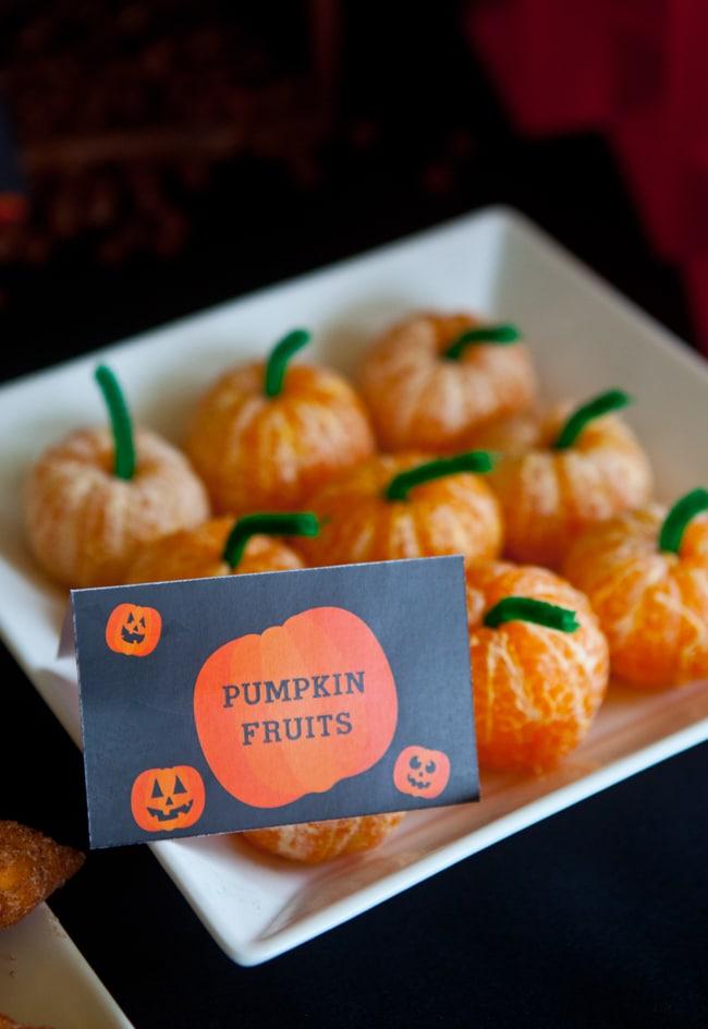 Pumpkin Fruits - Healthy Halloween Snacks