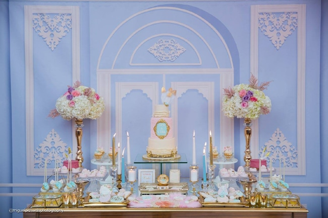 Gorgeous Marie Antoinette Baby Shower Dessert Table - Pretty My Party