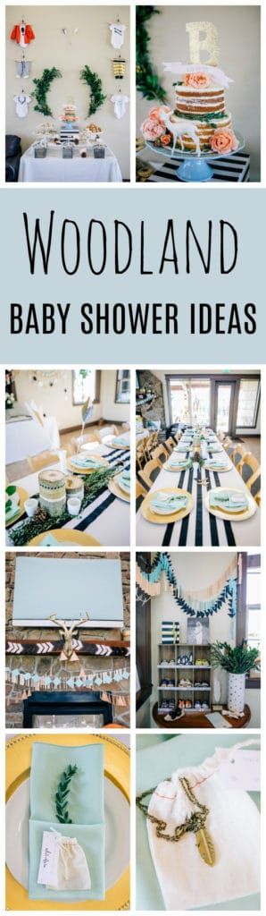 Modern Woodland Baby Shower on Pretty My Party