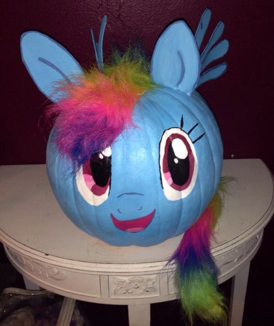 My Little Pony Painted Pumpkin