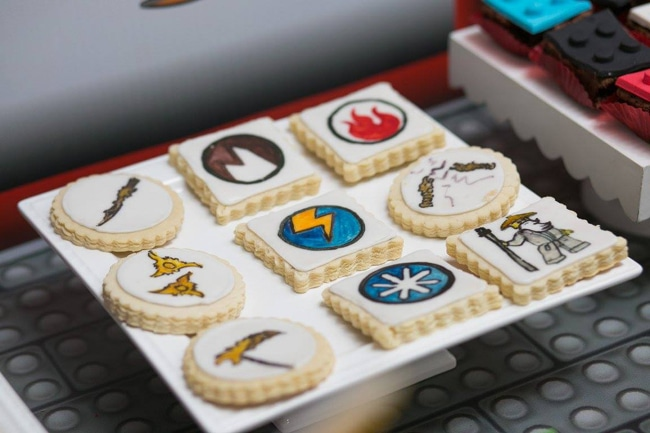 Awesome Ninjago Themed Birthday Party Cookies