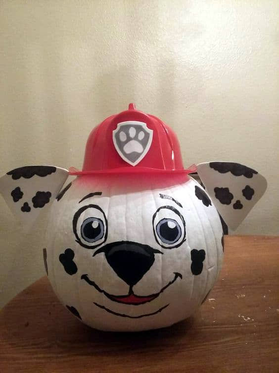 No Carve Paw Patrol Marshall Pumpkin for Kids