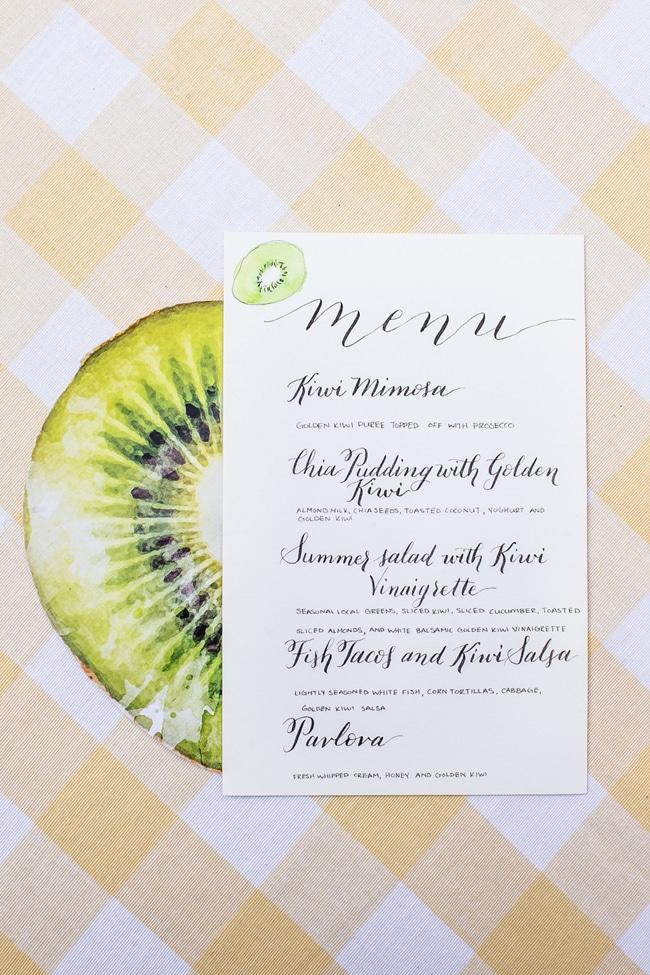 Stylish Kiwi Themed Brunch Pretty My Party