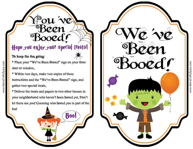 You've Been Booed Free Printable Set