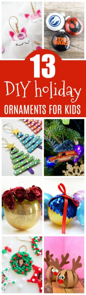 13 DIY Holiday Ornaments Kids Can Make on Pretty My Party