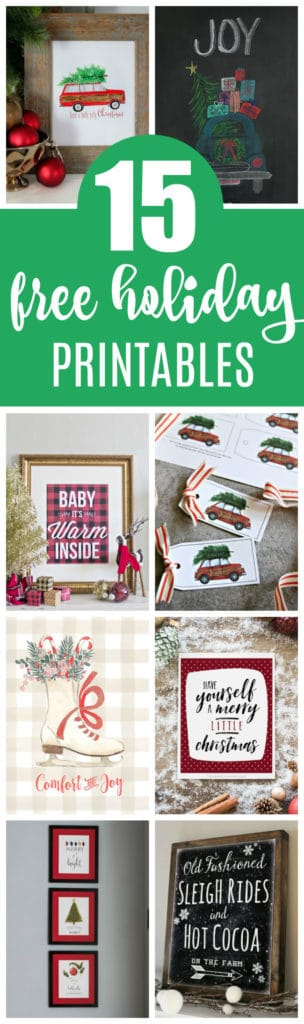15 Free Christmas Printables on Pretty My Party
