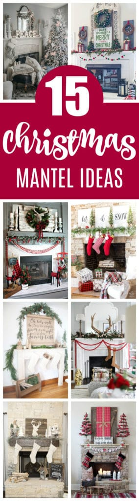 15 Totally Pin-Worthy Holiday Fireplace Mantel Ideas on Pretty My Party