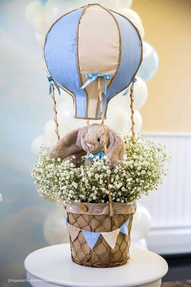 Boy's Hot Air Balloon First Birthday Party Decor