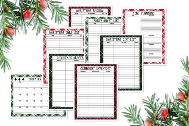 Christmas Planner Printables Free.Free Printable Holiday Planner Pack Pretty My Party