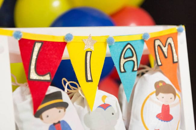 Circus party decorations