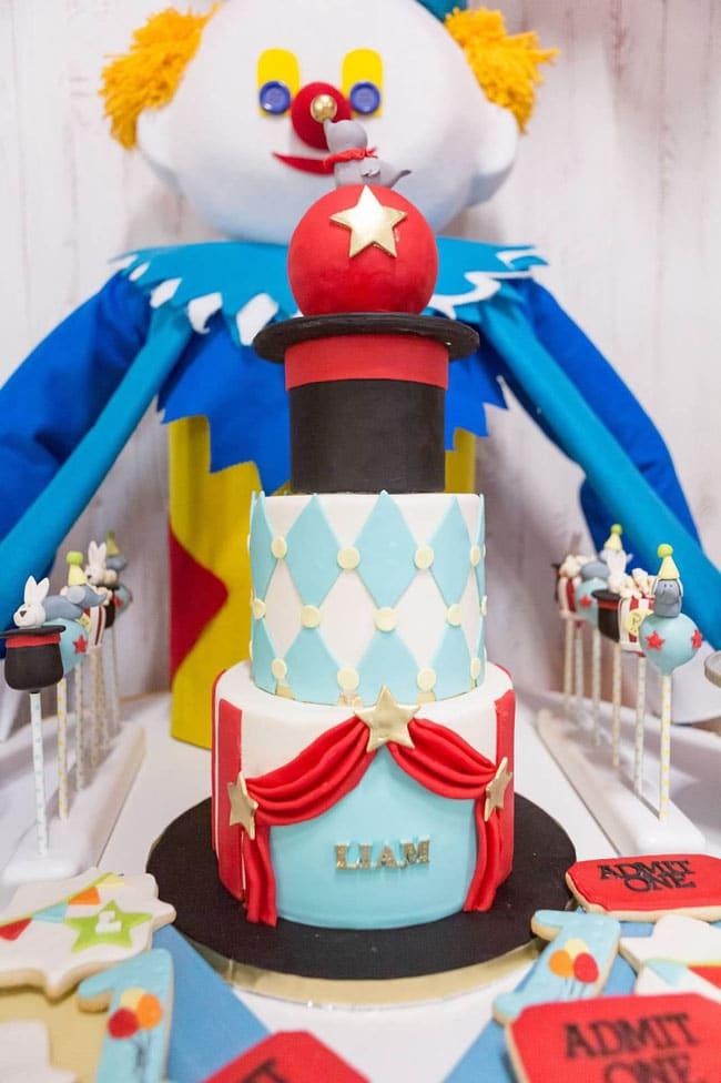 Circus Birthday Party Cake
