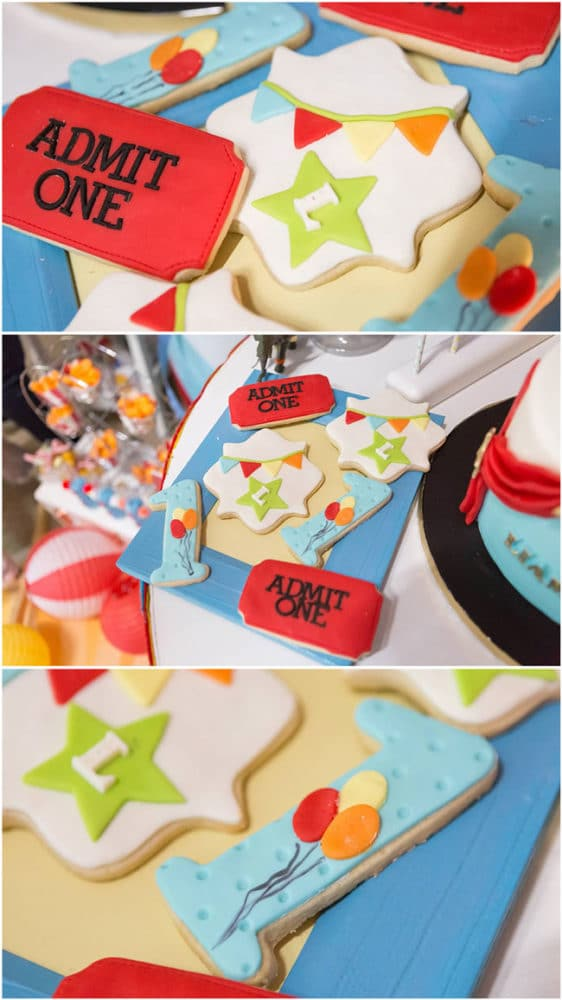 Circus Party Cookies